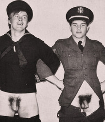 soldiers exposing their dick (vintage)