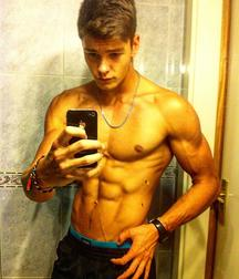 Sexy boy muscled 20 years old