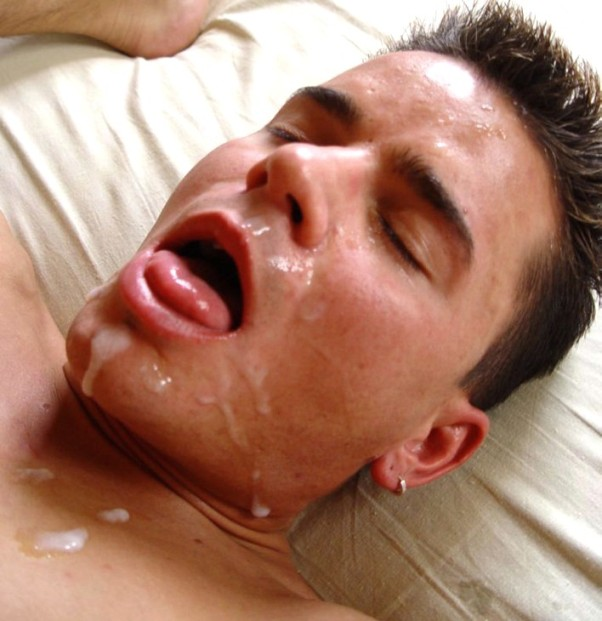 gay facials cum