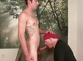 6'4'' str8 Mitchell is pushed to next level of gay sex.