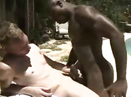 Black and White Backyard Interracial Vintage