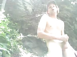 Wanking Outdoors