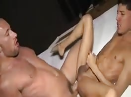 Letting Daddy pound his hole
