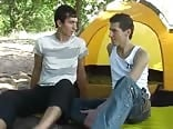 Russian Boys are camping