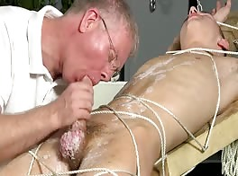 tied up, waxed & milked