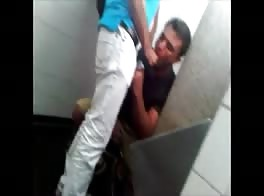 a blow job in public toilet
