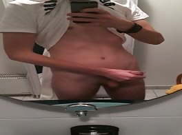 a nice cock in the bathroom
