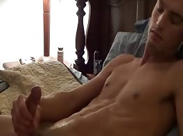Very handsome guy cum on face