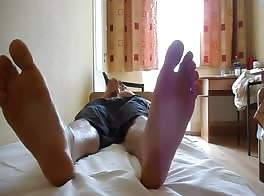 Feet and cum