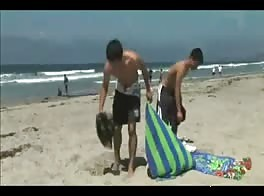 Beach boy hot sex summer day porn record