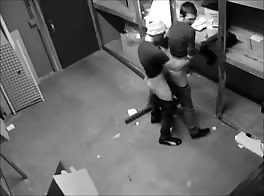 security camera caught gay porn workers fucking in storage