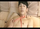 Tied-Up Asian Cutie Gets Handwork