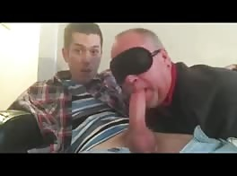 Older Gives Blowjob To Twink  - full video at localamateursextube.com