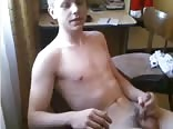 One horny guy jacking of