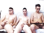 Three naked guys on cam