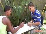 Two Sexy Latin Boys playing with Dicks