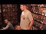 Cum Swallowing in the Porn Video Store