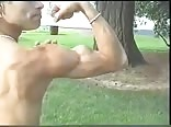 Hot Blonde Teen Muscleboy Flexing his Biceps