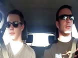 Father and son lip sync road trip style!!