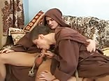 Monks on the couch