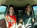 We are Never Getting Back Together, lip sync in the car
