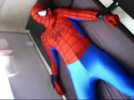 spiderman lycra bondage