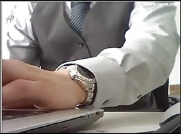 big cock in office