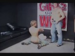 str8 college guy strip tease dancing
