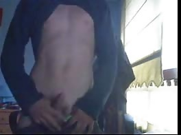18 yo cute boy wanks on webcam