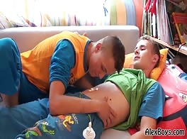 AlexBoys Two boys like lick the body