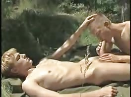 Twink with a huge cock fucking