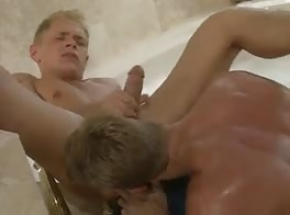 Blond Daddy Fucks Blond Twink