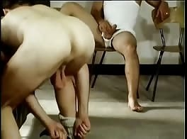 Vintage hot french recruits BB fuck