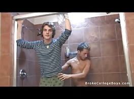 College Boys Shower Fun