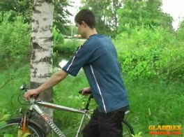 Biking To A Roadside Bareback Fuck