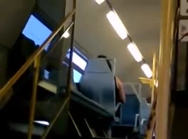 Wanking on the train