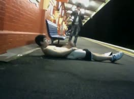 wank at the train station