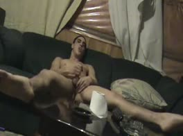 Str8 Latino at home on sofa - HOT