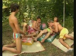 Outdoor Bareback Group Fun