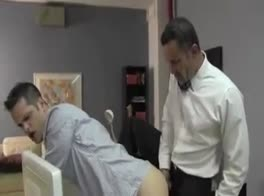 My boss fuck's my virgin ass in the Office