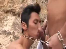 Latino Chain gang 3some