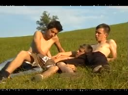 3 Teens Play Outdoors