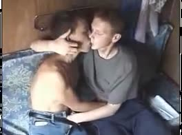 Russian Boys Play on the Train