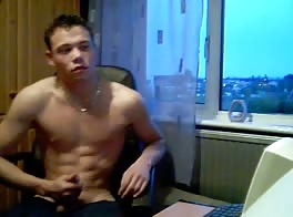 English Chav Lad Joe Wanking on Cam