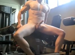 Gym Floor Naked Jerking