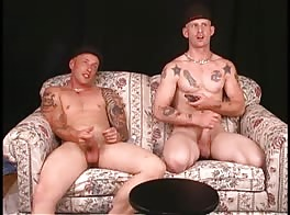 2 str8 brothers with big cocks jack off, talk about dad's big cock.