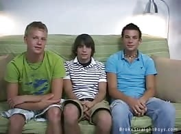 Straight Teen Boys Undercover History Threesome