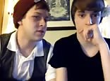 two teen boys on web-cam