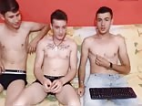 Gay For Pay, 3 Romanian Gorgeous Str8 Boys On Webcam
