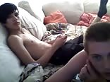 young super cute couple masturbating in bed Part 4